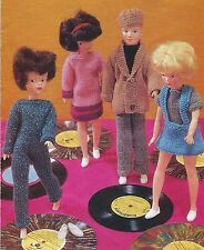 VINTAGE KNITTING PATTERN TO MAKE SINDY BARBIE PAUL KEN ACTION MAN DOLL CLOTHES