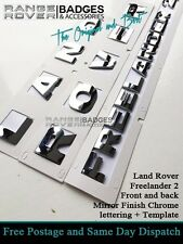 Land Rover Freelander 2 Badge Lettering Boot Bonnet Chrome Land Rover Letters