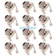 12Pcs Guitar Jack Socket 1/4'' Output Jack  Stereo for Electric Guitare Bass