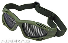 Airsoft Paintball Sport Tactical Metal Mesh Safety Goggles Glasses OD Green