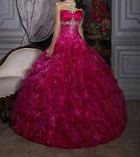 New Hot pink Quinceanera Dresses Long Prom Ball Bridal gowns Custom Size US2-16