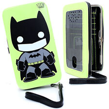 POP Heroes Funko Batman Neon Universal Fit Phone Case Hinge Wallet