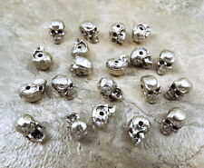 20 Pewter Beads - 5.5mm SKULL with Horizontal Hole -5438