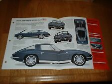 ★★1963 CHEVY CORVETTE STING RAY ORIGINAL IMP BROCHURE SPECS INFO 63 STINGRAY 327