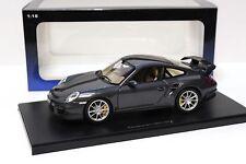 1:18 AutoArt Porsche 911 (997) GT2 gris foncé NEUF en PREMIUM-MODELCARS