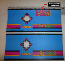 Multicade 11 Inch Ms Pac Man Cocktail Control Panel Overlay Without Start Table