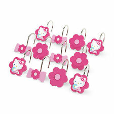 Sanrio Hello Kitty Shower Curtain Rings / Hooks 12 pc Set New in Package!