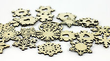 25x Mixed Design Wooden Snowflake Ornaments / Christmas Decoration / Decor