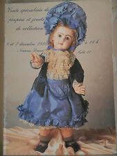 Catalogue ventes enchères poupées jouets collection antique doll toy Drouot 1985