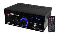New PCAU25A Pyle 2X 40 Watt Stereo Mini Power Amplifier USB/SD AUX Player/Remote