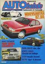 AUTO HEBDO n°505 du 15 Janvier 1986 PORSCHE 911 FORD SIERRA 4x4 ALFA 164