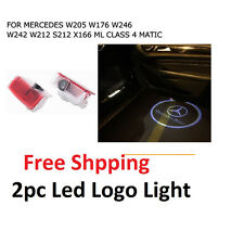 LED car Door Courtesy Ghost Shadow Logo Lights For Mercedes Benz E B C ML Class
