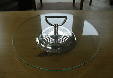 """Christofle Silver Plated Art Deco Style Cheese Plate -  12 1/4""""(31cms)"""