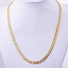 Mens Jewelry Yellow Gold Filled Cuban Llink Necklace hip hop Chain 24 - 26 inch