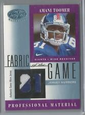 2001 Leaf Certified Football Amani Toomer Fabric Of The Game Patch Card # 52/81