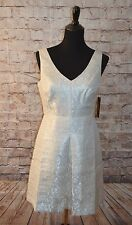 Modcloth Party of Your World Dress NWT 6 $200 Ivy & Blu Brocade ivory sheenn