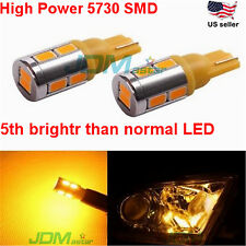 JDM ASTAR 2x T10 Wegde Amber 5730 10-SMD Yellow LED Lights Bulb 194 168 2825 W5W
