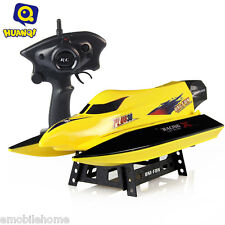 HUANQI 959 2.4G 4CH High Speed Remote Control Boat Water Cooling System YELLOW