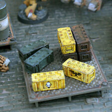 theBattleforge 28mm Sci Fi Wargames - Space Guard Army Ammo Boxes x8 Resin Pack