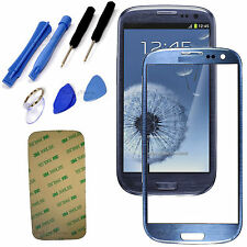 Blue Replacement Screen Glass Lens Kit For Samsung Galaxy S3 Mini i8190 + Tools