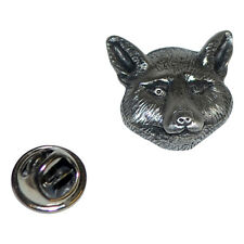 FOX head British Pewter Pin Badge Tie Pin / Lapel Badge XDHLP1127