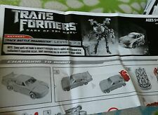 TRANSFORMERS DARK MOON BATTLE TRACK ROADBUSTER INSTRUCTION BOOKLET