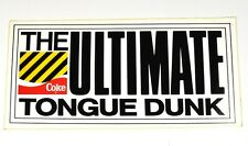 Coca Cola Coke 23x11 cm Aufkleber USA 80' Sticker Decal The Ultimate Tongue Dunk