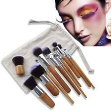 Set de 11 Pinceles para Cosmético Maquillaje Pincel Brocha Makeup Brush + Manta