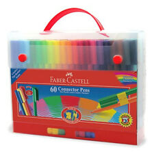 Faber Castell Set of 60 Connector Pens in Gift Case. Artist & Craft Marker Pens