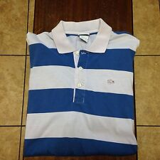 men's Lacoste s/s polo shirt blue, gray size 7 XL