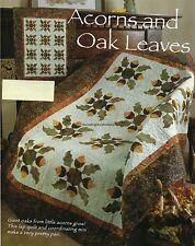 Acorns And Oak Leaves Quilt Pattern Pieced/Applique LF