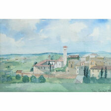Modern Landscape Townscape Watercolour Painting Tim Jones Mallorca Majorca Spain