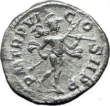 SEVERUS ALEXANDER 227AD Rome NUDE MARS TROPHY Ancient Silver Roman Coin i59494