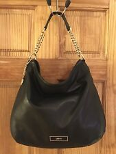 DKNY Womens Shoulder/Evening Bag, Black Color New With Small Scratch, Leather.