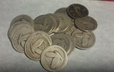 20 Standing Liberty Quarters No Dates $5 Face Value 90% Silver Coins half roll