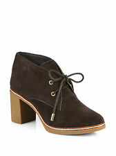 NEW TORY BURCH Brown Hilary Shearling lined Suede Ankle Boots, Size 11,  $375