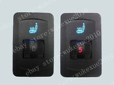 Seat heater switch * 2 pcs, single dial 5-gear,used for replace the damaged one
