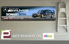 Mercedes 190e Cosworth Touring Car Banner for Workshop, Garage, 1300mm x 325mm