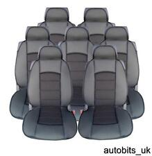 FULL SET 7X BLACK PREMIUM COMFORT PADDED SEAT COVERS FOR 7 SEATER CAR MPV VAN