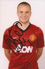 MAN UNITED: TOM CLEVERLEY SIGNED 6x4 PORTRAIT PHOTO+COA