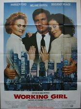 WORKING GIRL Affiche Cinéma / Movie Poster Harrison Ford & Melanie Griffith
