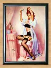 Vintage Retro Hair Glamour Gil Elvgren Pin Up Girl Art Glossy A4 Poster Print