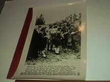Rare Historical Original VTG WWII French Refugees Get Food British Radio Photo