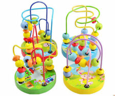 Children Kids Baby Colorful Wooden Maze Mini Around Beads Educational Game Toy