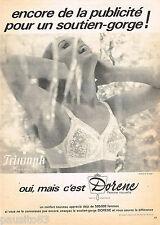 PUBLICITE ADVERTISING 055  1966  TRIUMPH  LE soutien gorge DORENE