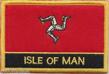 Isle of Man Flag Embroidered Patch Badge - Sew or Iron on