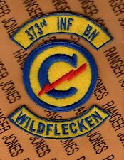 US Army 373rd Infantry Battalion Constabulary Wildflecken Germany patch tab set