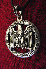 Eagle Odin Norse Warrior Thor Viking SCA Silver Plate Amulet Pendant Necklace