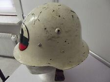 Helm Militärpolizei Bulgarien ? Form WWII original Stahlhelm