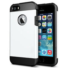 STEALTH WHITE TOUGH ARMOUR SHOCK CASE FOR IPHONE 5 & 5S LIKE SPIGEN LIFEPROOF